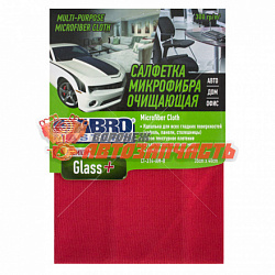Салфетка из микрофибры 35х40 см Abro Masters Glass+ /красная/