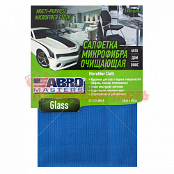 Салфетка из микрофибры 35х40 см Abro Masters Glass /голубая/